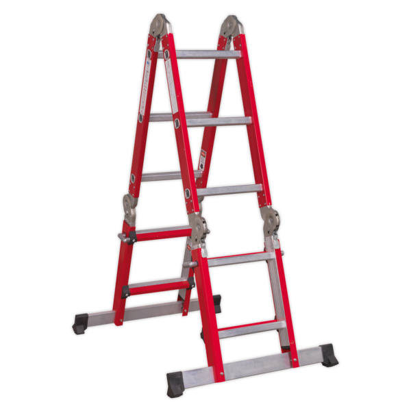 Sealey AFPL2 Aluminium Multipurpose Ladder EN 131 Adjustable Height Thumbnail 1