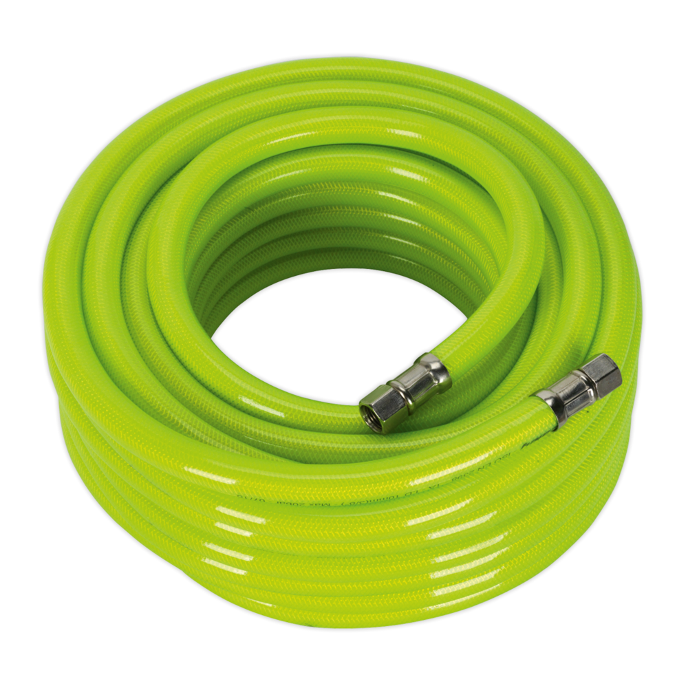 "Sealey AHFC1538 Air Hose High Visibility 15mtr x Ø10mm with 1/4"" BSP Unions"