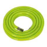 "Sealey AHFC538 Air Hose High Visibility 5mtr x Ø10mm with 1/4"" BSP Unions"