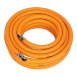"Sealey AHHC1038 Air Hose 10m x Ø10mm Hybrid High Vis with 1/4"" BSP Unions"