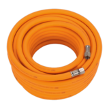 "Sealey AHHC15 Air Hose 15mtr x Ø8mm Hybrid High Visibility with 1/4"" BSP Unions"