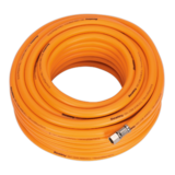 "Sealey AHHC20 Air Hose 20mtr x Ø8mm Hybrid High Visibility with 1/4"" BSP Unions"
