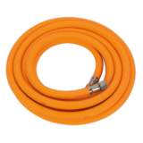 "Sealey AHHC5 Air Hose 5mtr x Ø8mm Hybrid High Visibility with 1/4"" BSP Unions"