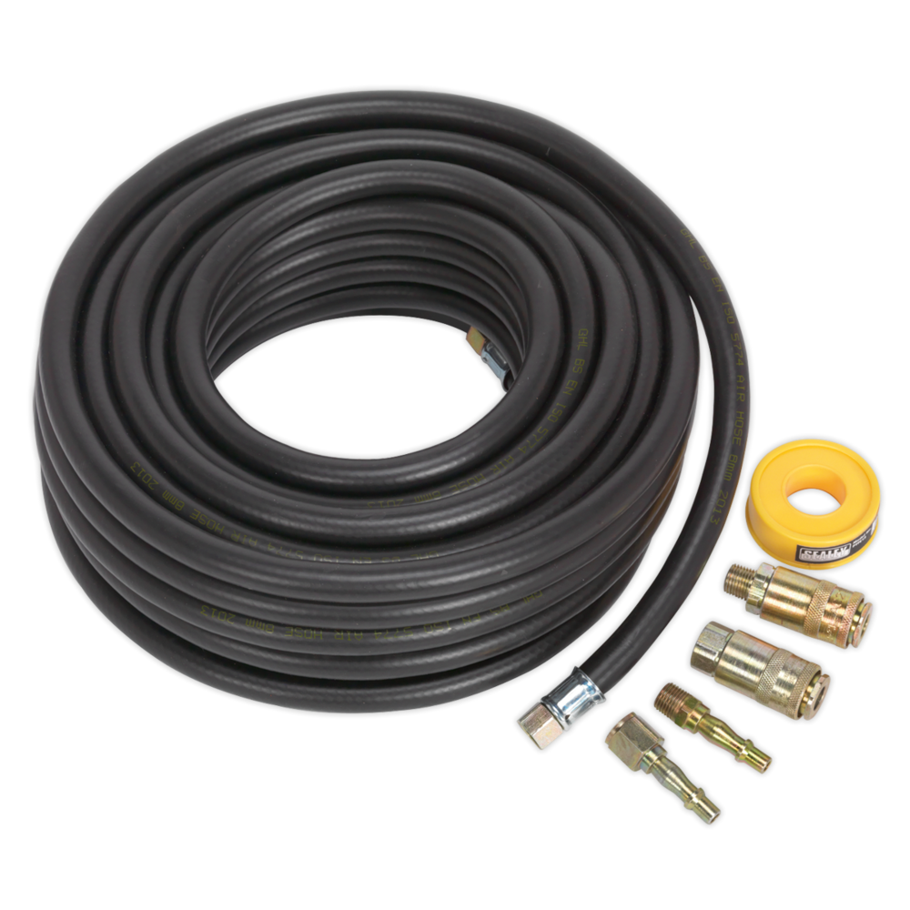 Sealey AHK01 Air Hose Kit 15mtr x Ø8mm with Connectors