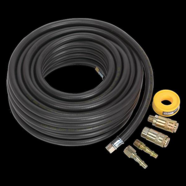 Sealey AHK01 Air Hose Kit 15mtr x Ø8mm with Connectors Thumbnail 1