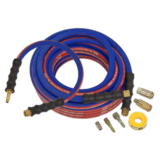 Sealey AHK02 Air Hose Kit Heavy-Duty 15mtr x Ø10mm with Connectors