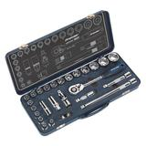 "Sealey AK27482 Socket Set (26 Piece) 1/2""Sq Drive Lock-On 6pt Metric"