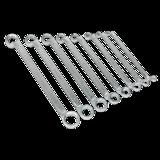 Sealey AK6327 Offset Double End Ring Spanner Set 8pc Metric