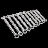 Sealey AK63914 Combination Ratchet Spanner Set 10pc Extra-Long Metric