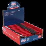 Sealey AK7183 Ball-End Hex Key Set 9pc Extra-Long Anti-Slip Display Box of 10