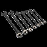 Sealey AK7978 Combination Ratchet Spanner Set 7pc Black Series Metric