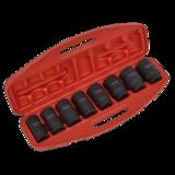 """Sealey AK885 Impact Socket Set 8pc Deep 3/4"""" Sq Drive Metric"""
