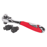 Sealey AK9695 Ratchet Wrench Interchangeable Drive 3-in-1
