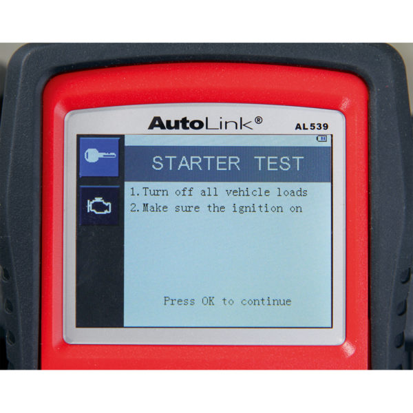 Sealey AL539 Autel EOBD Code Reader - Electrical Tester Thumbnail 6