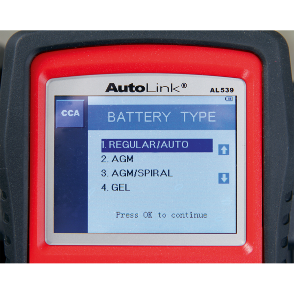 Sealey AL539B Autel EOBD Code Reader - Electrical & Battery Tester Thumbnail 8
