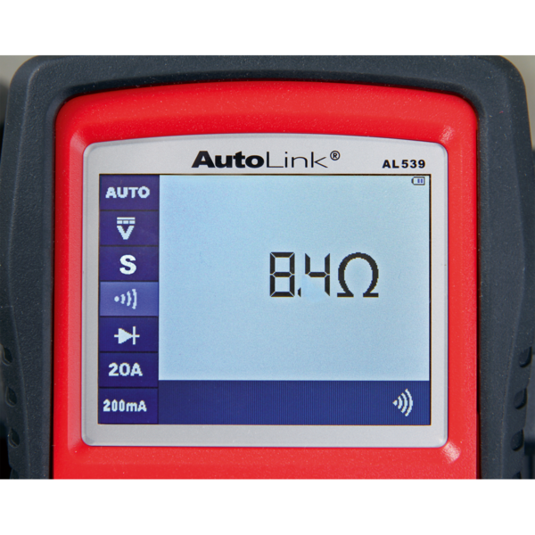 Sealey AL539B Autel EOBD Code Reader - Electrical & Battery Tester Thumbnail 5