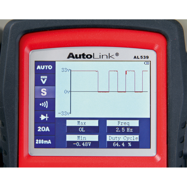 Sealey AL539B Autel EOBD Code Reader - Electrical & Battery Tester Thumbnail 4