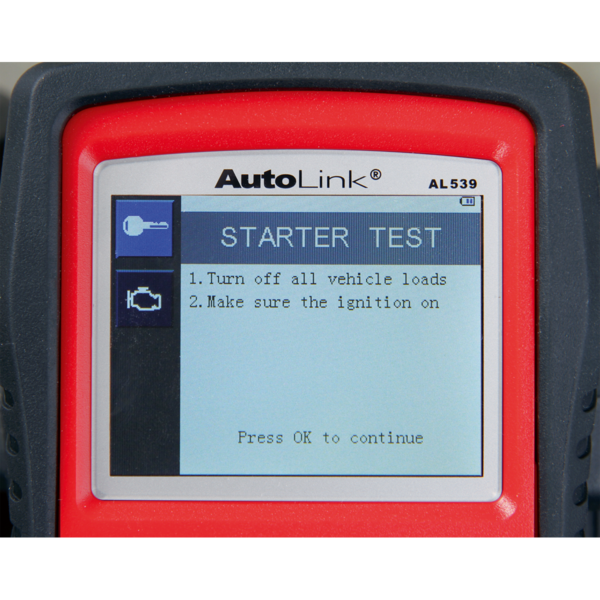 Sealey AL539B Autel EOBD Code Reader - Electrical & Battery Tester Thumbnail 3