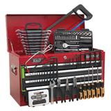 Sealey Topchest 6 Drawer with Ball Bearing Runners Red/Grey & 98 Piece Tool Kit