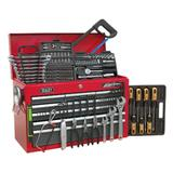 Sealey Topchest 9 Drawer with Ball Bearing Runners Red/Grey & 205 Piece Tool Kit