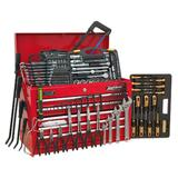 Sealey Topchest 5 Drawer with Ball Bearing Runners & 230 Piece Tool Kit - Red