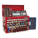 Sealey Topchest 5 Drawer with Ball Bearing Runners & 138 Piece Tool Kit - Red