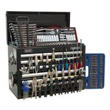 Sealey Topchest 10 Drawer with Ball Bearing Runners & 138 Piece Tool Kit - Black