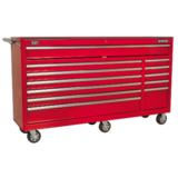 Sealey AP6612 Rollcab 12 Drawer with Ball Bearing Runners Heavy-Duty - Red
