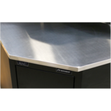 Sealey APMS19 Stainless Steel Corner Worktop 930mm for use with Model No. APMS15