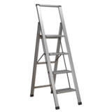 Sealey APSL4 Aluminium Professional Folding Step Ladder 4-Step 150kg Capacity