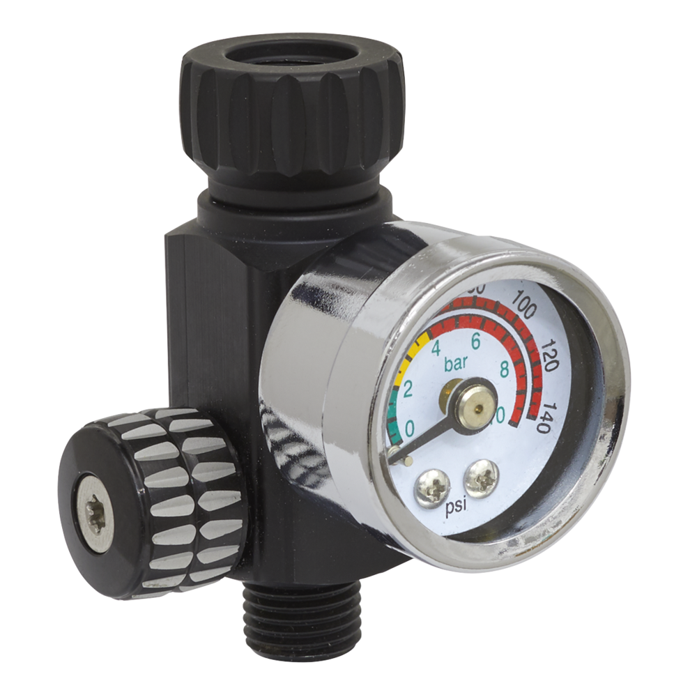Sealey AR01 On-Gun Air Pressure Regulator/Gauge