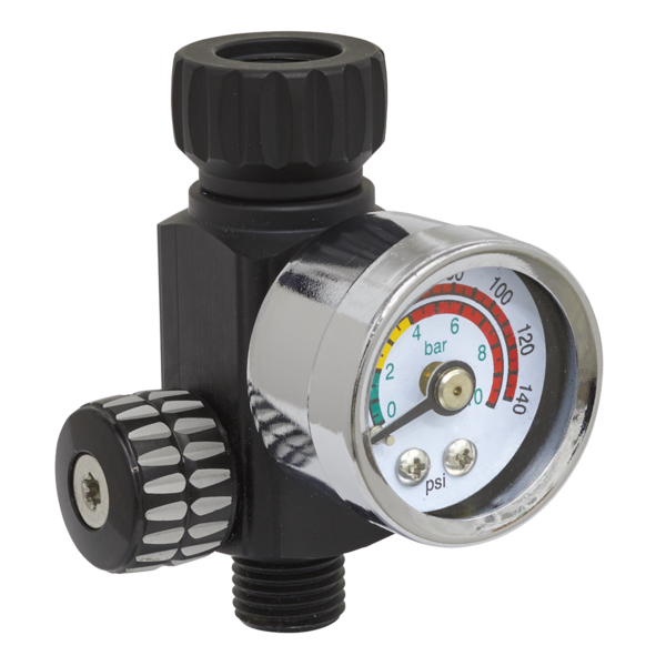 Sealey AR01 On-Gun Air Pressure Regulator/Gauge Thumbnail 1