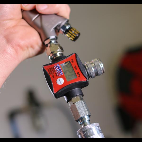 Sealey ARD01 On-Gun Air Pressure Regulator/Gauge Digital Thumbnail 5