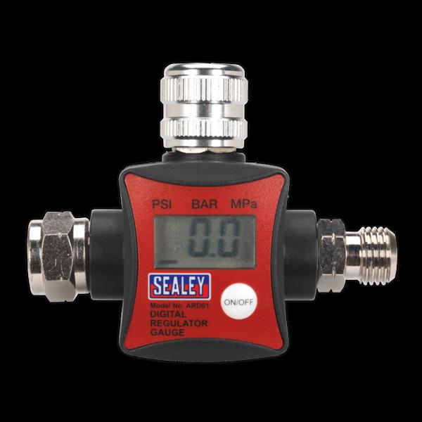 Sealey ARD01 On-Gun Air Pressure Regulator/Gauge Digital Thumbnail 2
