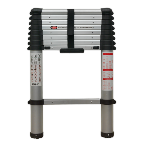 Sealey ATL09 Aluminium Telescopic Ladder 9-Tread EN 131 Thumbnail 1