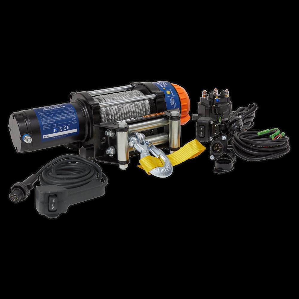 Sealey ATV2040 ATV/Quad Recovery Winch 2040kg (4500lb) Line Pull 12V