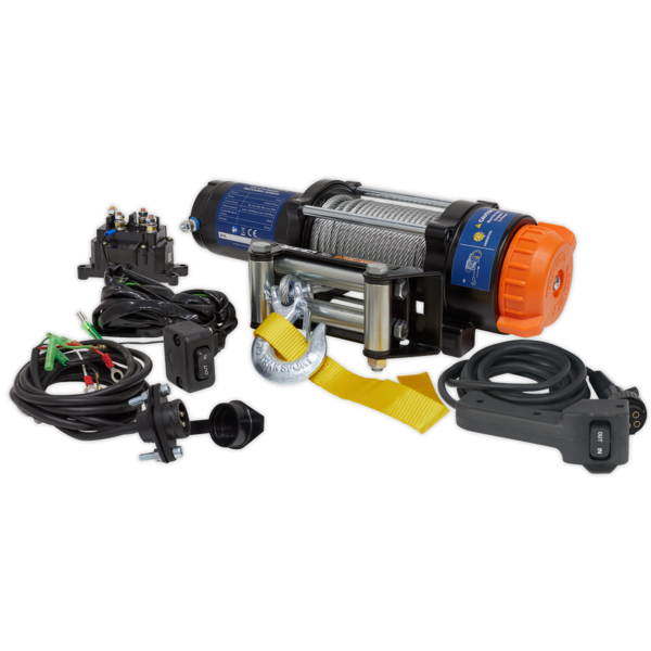 Sealey ATV2040 ATV/Quad Recovery Winch 2040kg (4500lb) Line Pull 12V Thumbnail 3