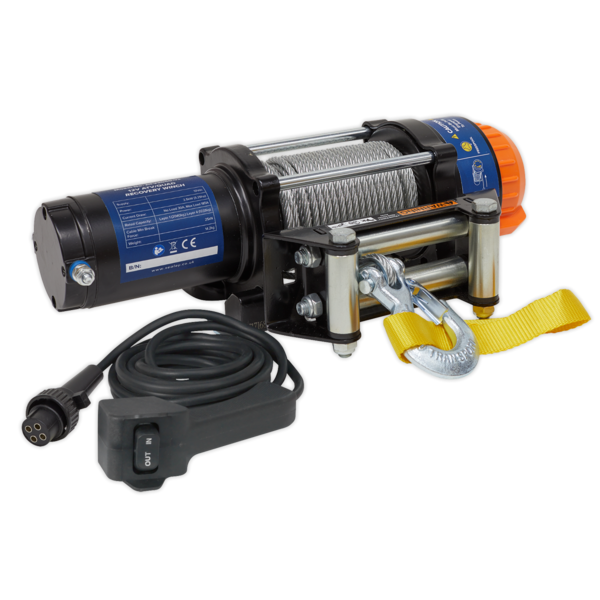 Sealey ATV2040 ATV/Quad Recovery Winch 2040kg (4500lb) Line Pull 12V Thumbnail 4