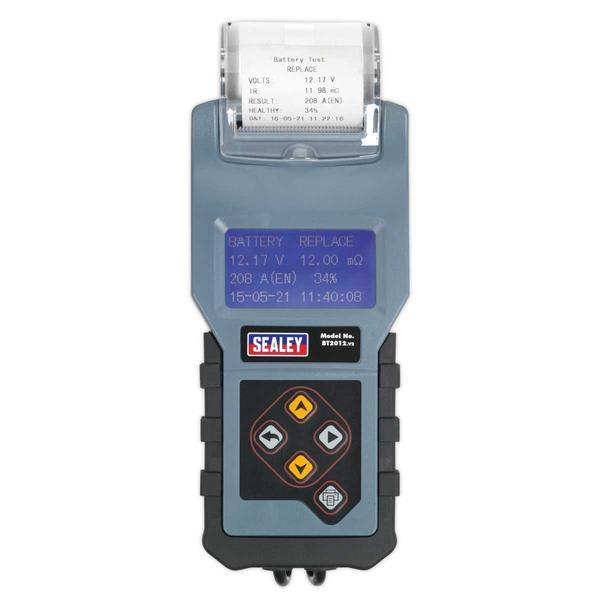 Sealey BT2012 Digital Battery & Alternator Tester with Printer 12V Thumbnail 3