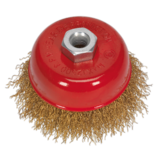 Sealey CBC752 Brassed Steel Cup Brush Ø75mm M14 x 2mm