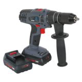 Sealey CP6018V Cordless Li-ion Hammer Drill/Driver 18V Super Torque 1hr Charge