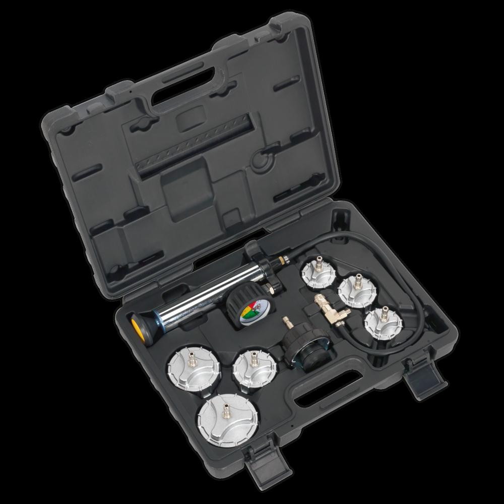 Sealey CV0011 Cooling System Pressure Test Kit 7pc - Commercial