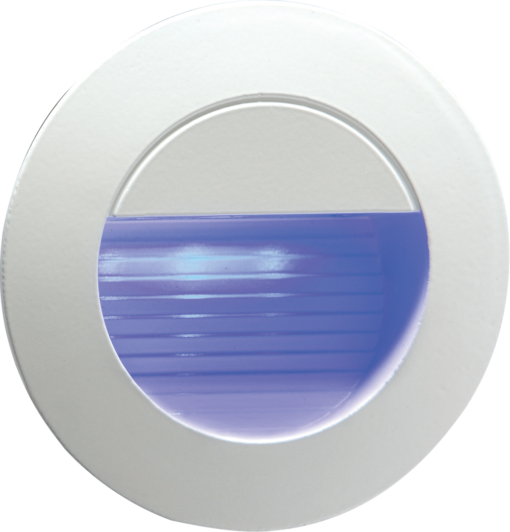 Stair Wall Light Blue LED Knightsbridge NH020B 230V Recessed IP54 Round Indo