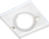 Knightsbridge CH15GUSF IP65 GU10 50W Square Frosted Glass Downlight White