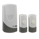 Knightsbridge DC007 Wireless Dual Entrance Door Chime Kit - White (100M Range)