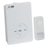 Knightsbridge DC008 Wireless Mp3 Door Chime - White (200M Range)