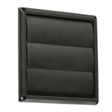 "Knightsbridge EX007B 100mm/4"" Gravity Shutter - Black"