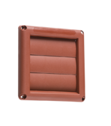"Knightsbridge EX007T 100mm/4"" Gravity Shutter - Terracotta"