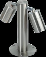 Knightsbridge GROUND2 IP65 2 x GU10 35W Max Adjustable Stainless Steel Bollard