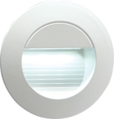 Knightsbridge NH020W 230V Recessed IP54 Round Indoor/Outdoor LED Guide/Stair/Wall Light White LED